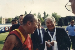 Dalai Lama and Rinpoche in Merigar