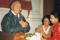Rinpoche with 2 practitioners in Belgrade Serbia 1990